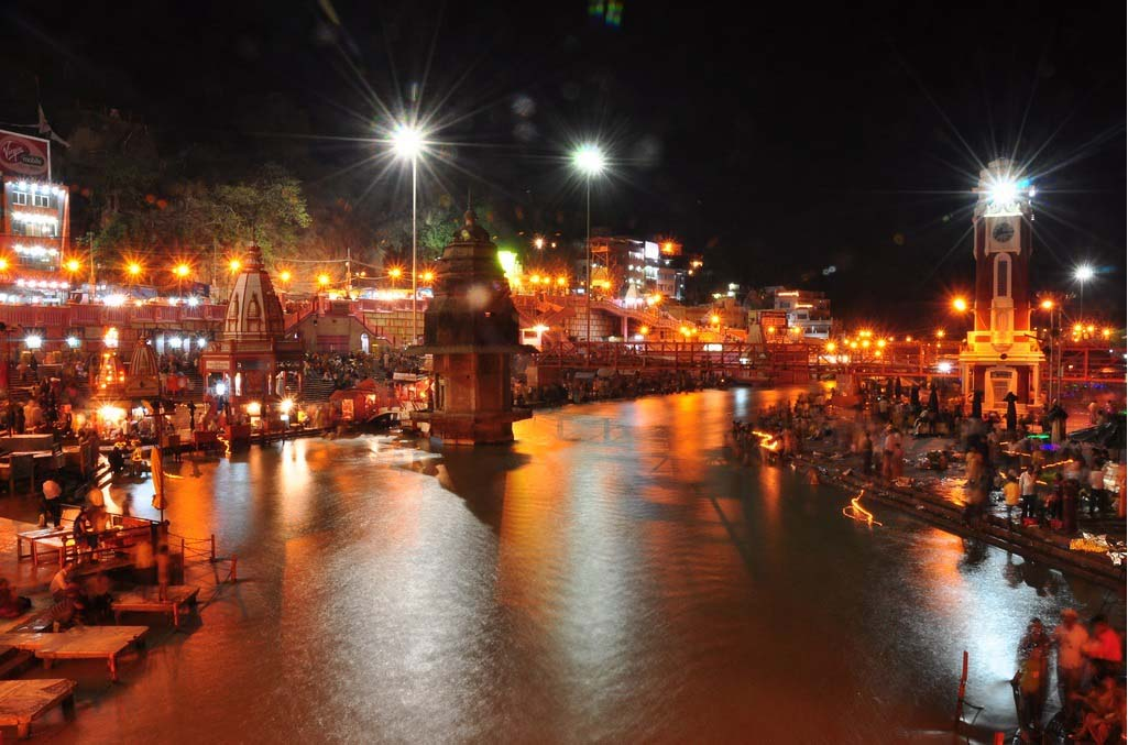 Evening View at Har ki Pauri Haridwar Uttarakhand India