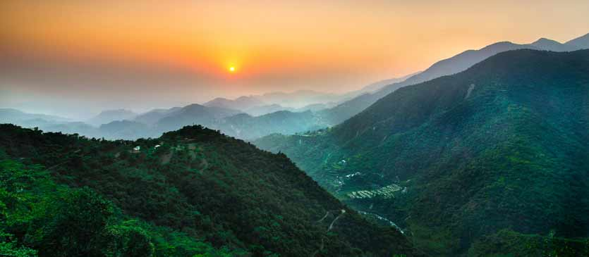 Mussoorie Morning Scene