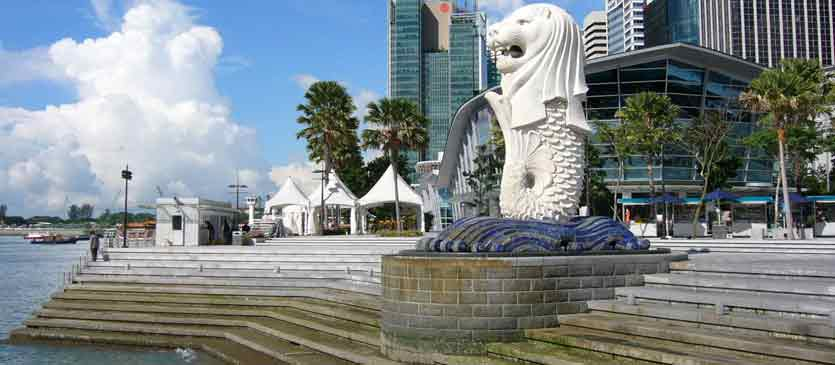 Singapore Beautiful Merlion Park Tourism Destination